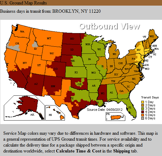 UPS Ground Shipping Time Estimate